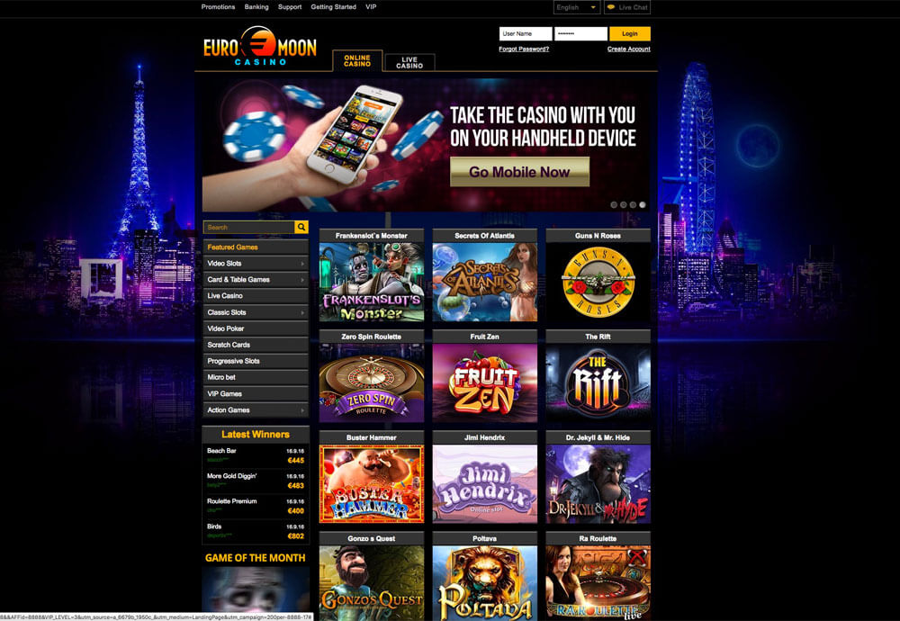 Euromoon Casino Provides A Remarkably Broad Range Of Games